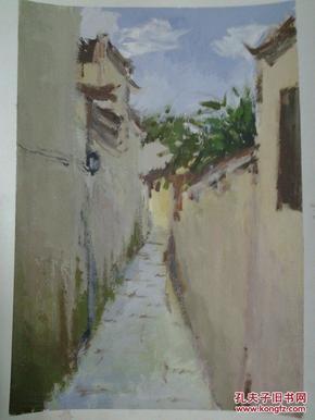 西安美院流出——大幅水粉风景画(绘画不错