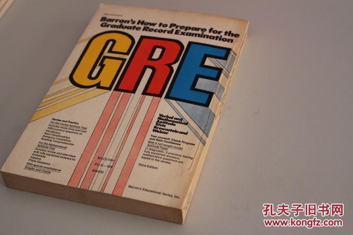 barron`s how to prepare for the graduate record examination