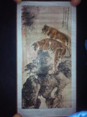 2开宣传画--双虎图  1981年