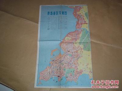 八十年代初老地图——青岛市区交通图(青岛市勘察测量大队编印,含八十图片