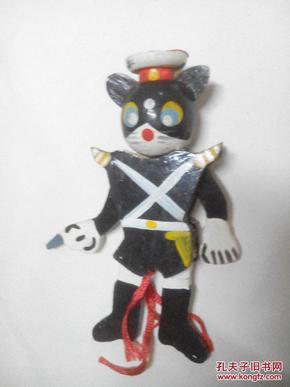 80年代提线偶玩具黑猫警长