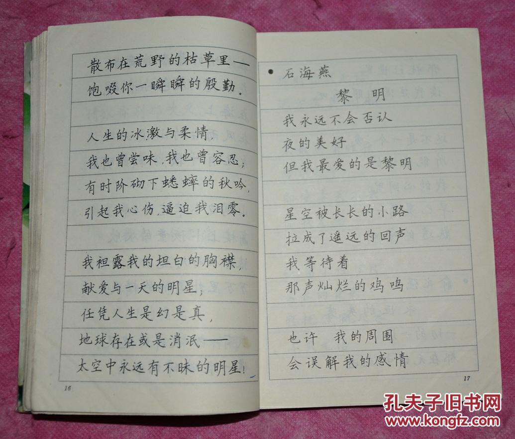 青少年抒情诗 钢笔字帖(楷书,隶书)图片