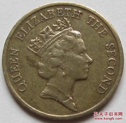 1998年香港5元硬币_香港1989年 1毫 硬币