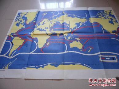 高级中学世界地理教学挂图:洋流主要课本分布高中生过夜图片