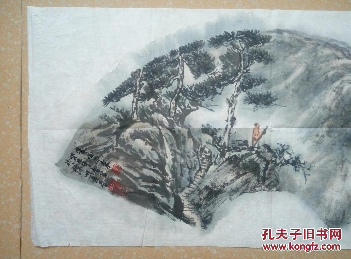 【图】江苏著名画家中国美术家协会会员卢星堂扇面图片