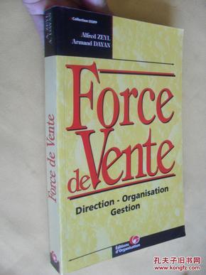 法文原版  Force de vente. Direction - Organisation - Gestion