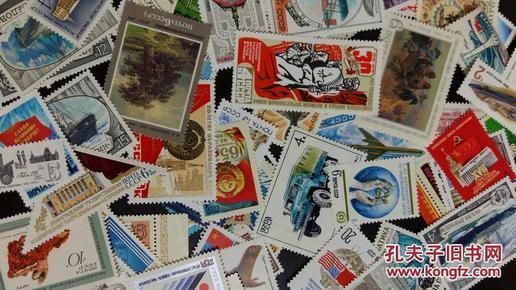 全新外国邮票,共100张,不重复