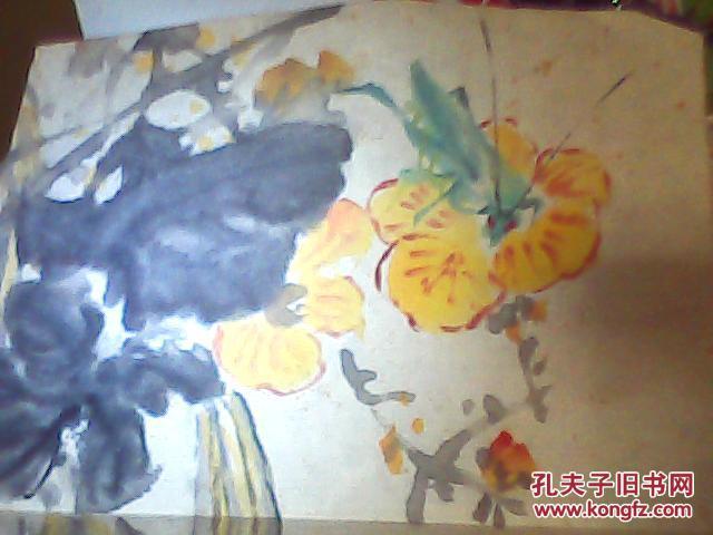 中国花鸟画大师,现代浙派中国画首领人物吴弗之 写意画【丝瓜】【保图片