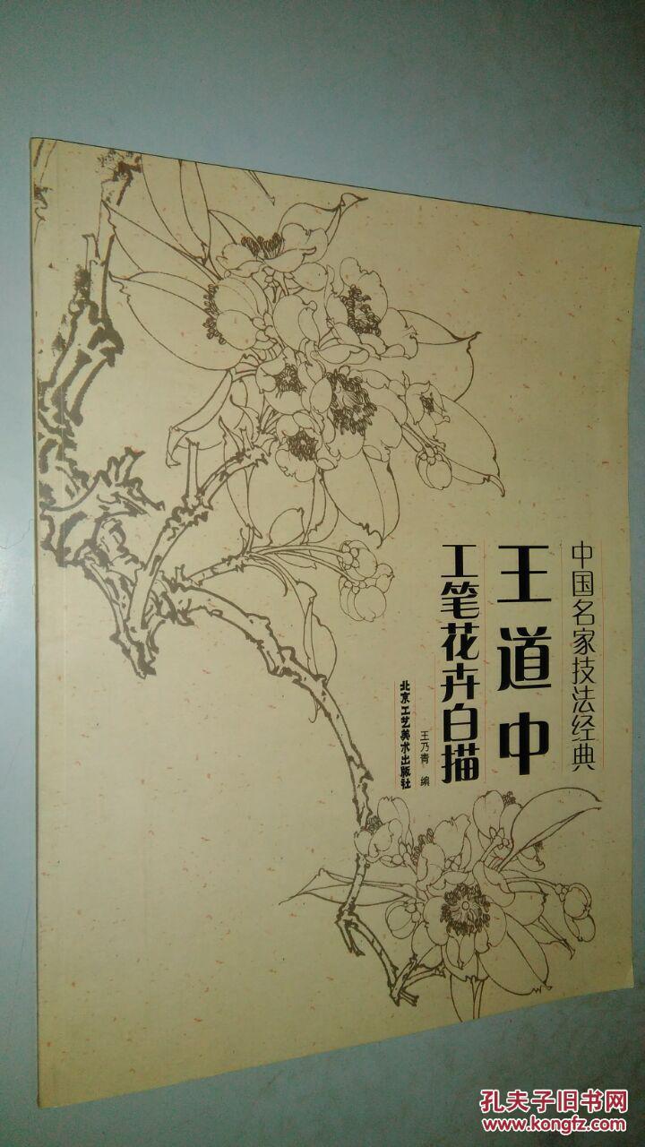 中国名家技法经典:王道中工笔花卉白描(正版新书)图片
