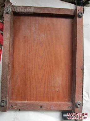 老式 切纸机一个 木板图片