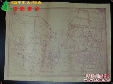 期老式手绘工程晒蓝图1张,图幅-全部商品 跃璐书舍 孔夫子旧书网
