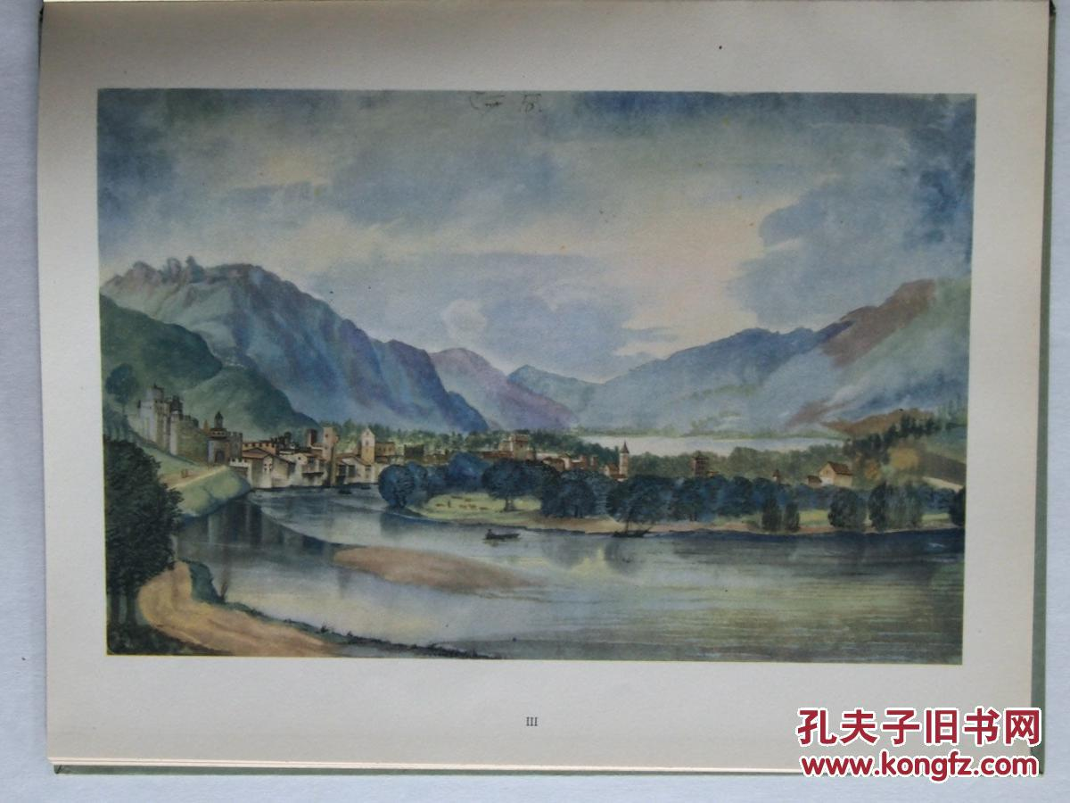 丢勒作品《风景水彩画 》9幅彩色艺术图片 16开