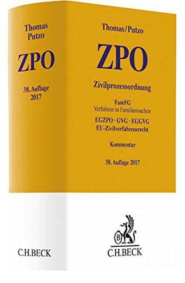 德文原版 德语 Zivilprozessordnung ZPO 德国民事诉讼法 Thomas Putzo 2017年第38版