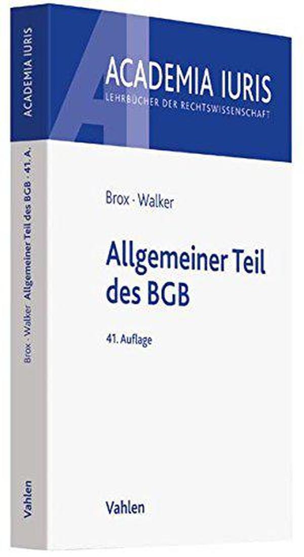 德文原版 德语 德国民法总论 课本 教材 教科书 Allgemeiner Teil des BGB 2017年第41版