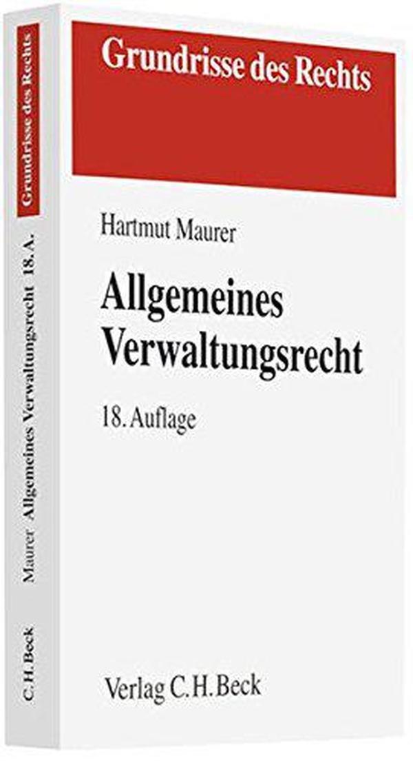 德文原版 德语 Allgemeines Verwaltungsrecht 德国行政法 课本 教材 教科书 2011年第18版