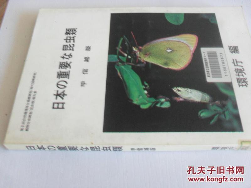日文原版      日本の重要 昆虫类 甲信越版