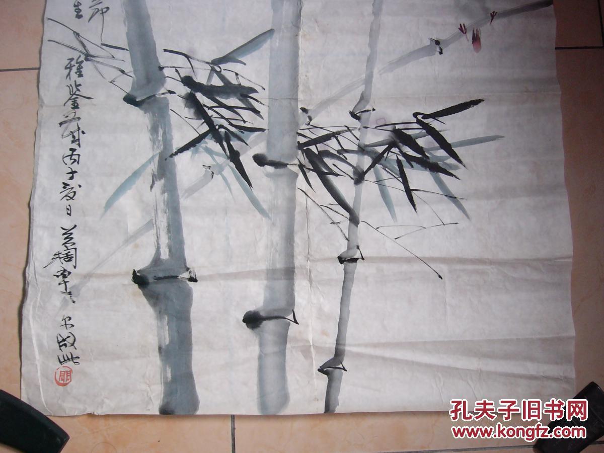 著名画家 关阔 花鸟作品一幅《高风亮节》(尺寸69厘米x68厘米)图片