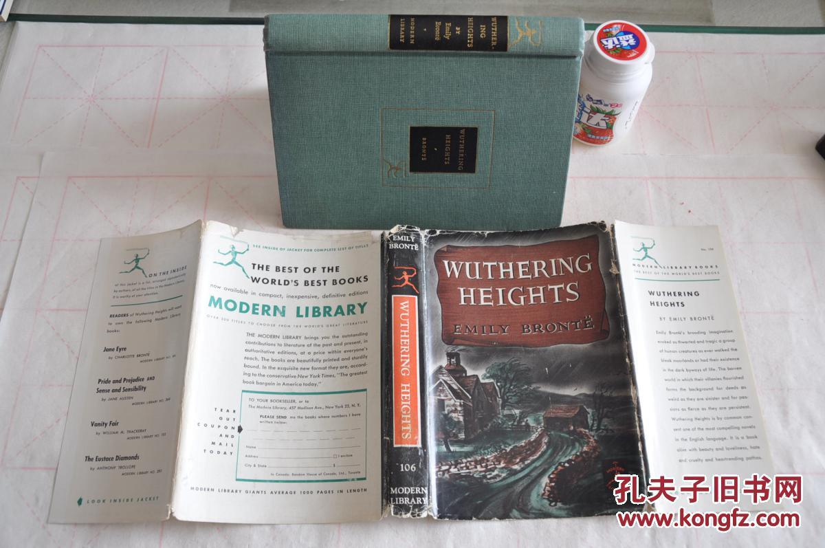 1950年,英文原版,精装带护封,wuthering heights 呼啸山庄图片