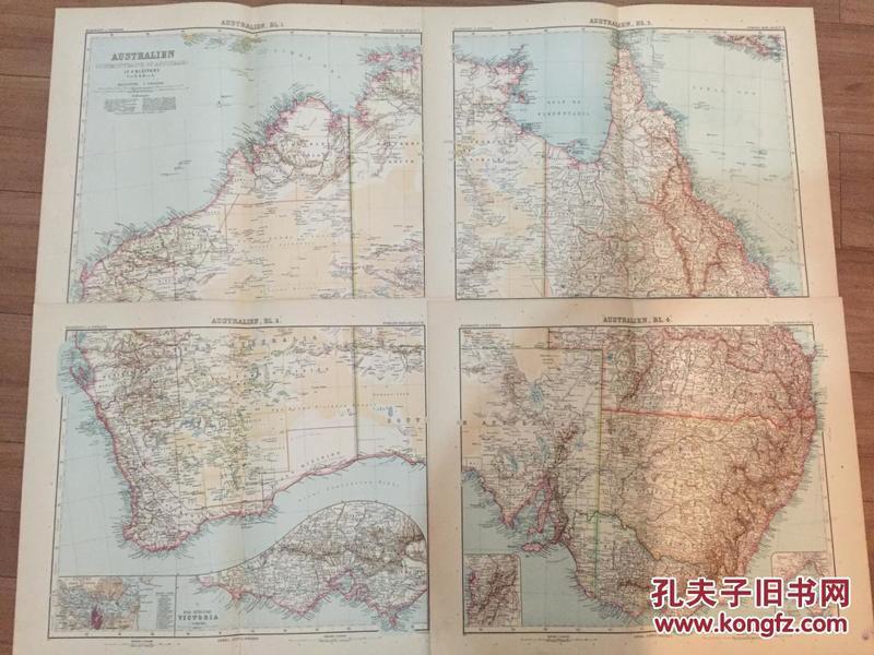 1906年澳大利亚地图 4张