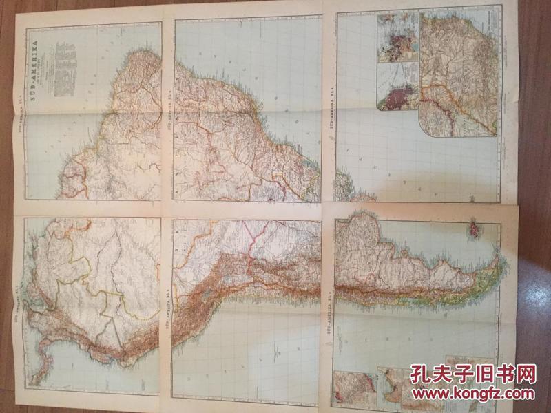 1906年南美洲地图  6张