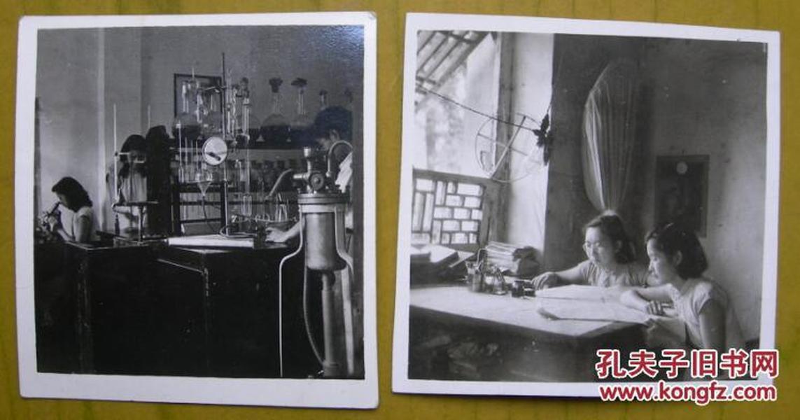 民国老照片:抗战时期,重庆北碚,工作学习美女。(2张)