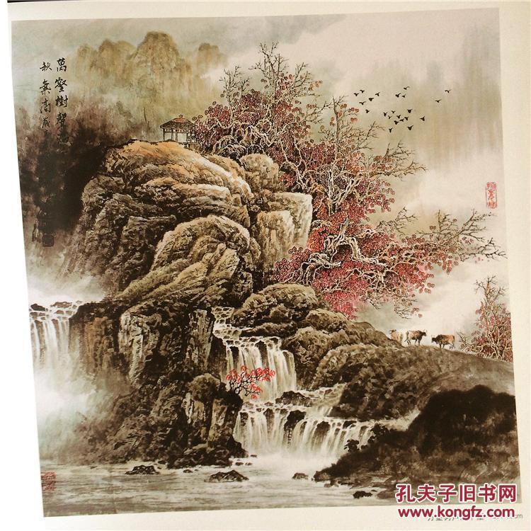 吴成建彩墨山水画精品画集现代国画写生创作画册名家作品临摹图书图片
