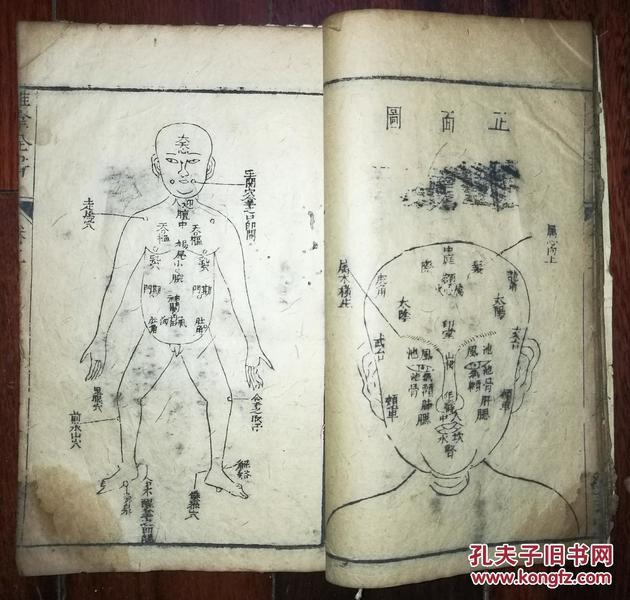 木刻漂亮字体《推拿全书>(不全)
