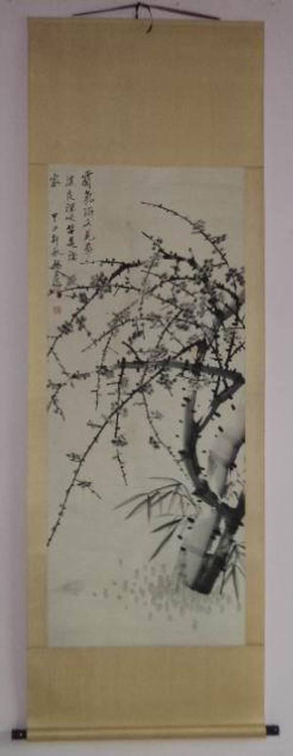清末民初海上画派著名画家 杨逸 梅花立轴