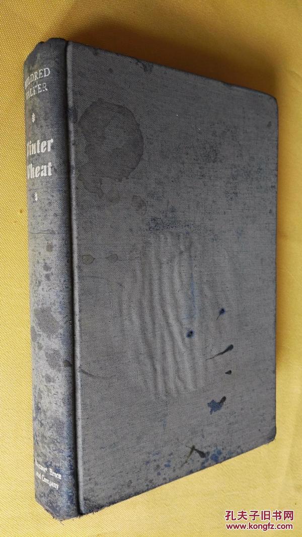 英文原版 民国旧书 1944年初版 winter wheat by Mildred walker