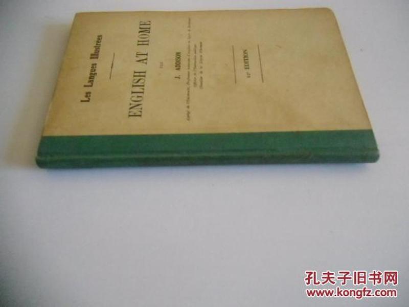 法文原版   古籍善本    ENGLISH AT HOME
