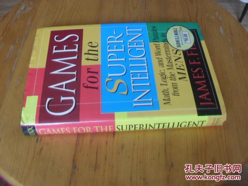 英文原版 精装插图版 超级智能游戏 Games for the Super-Intelligent .James Fixx