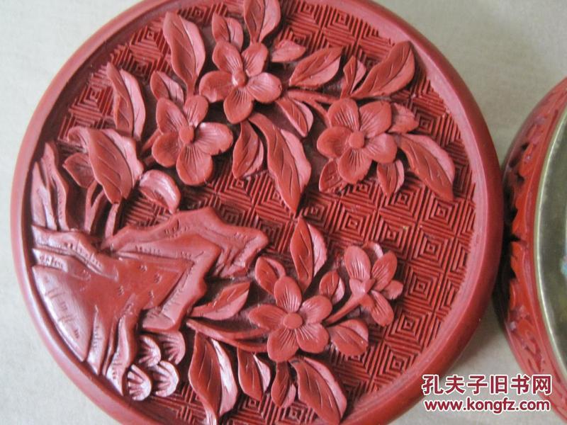 日本回流精品--《老雕漆园盒》保真