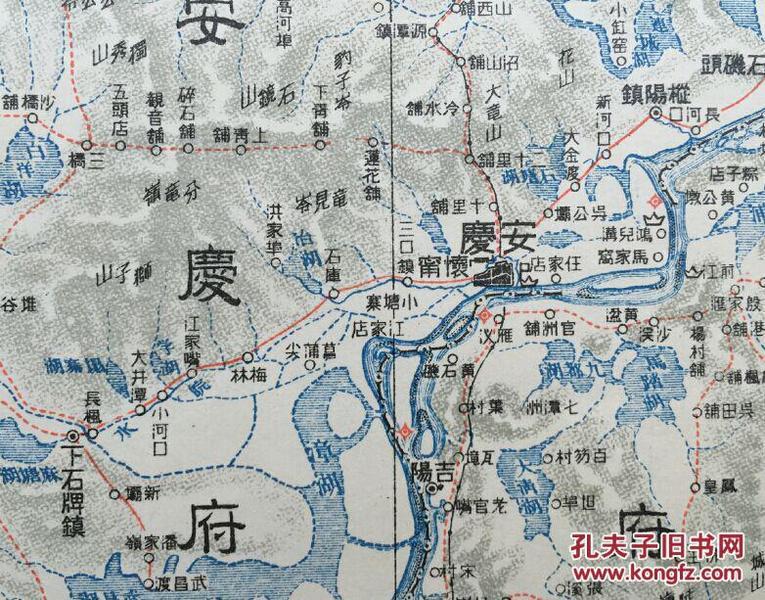 湖北黄州,比例尺 百万分之一 -孔网唯一清末军事地图 大东亚舆地图 图片