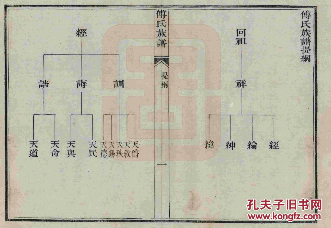 家谱-----傅氏族谱 山东东郡回公支 16开 129页 道光癸卯年(1843年)重图片