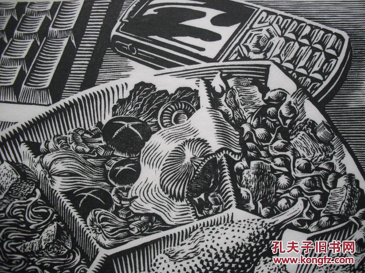武将 黑白木刻版画 快餐时代图片