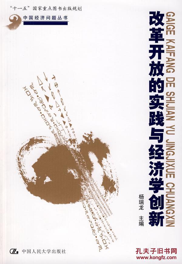 正版 改革开放的实践与经济学创新 杨瑞龙 中国