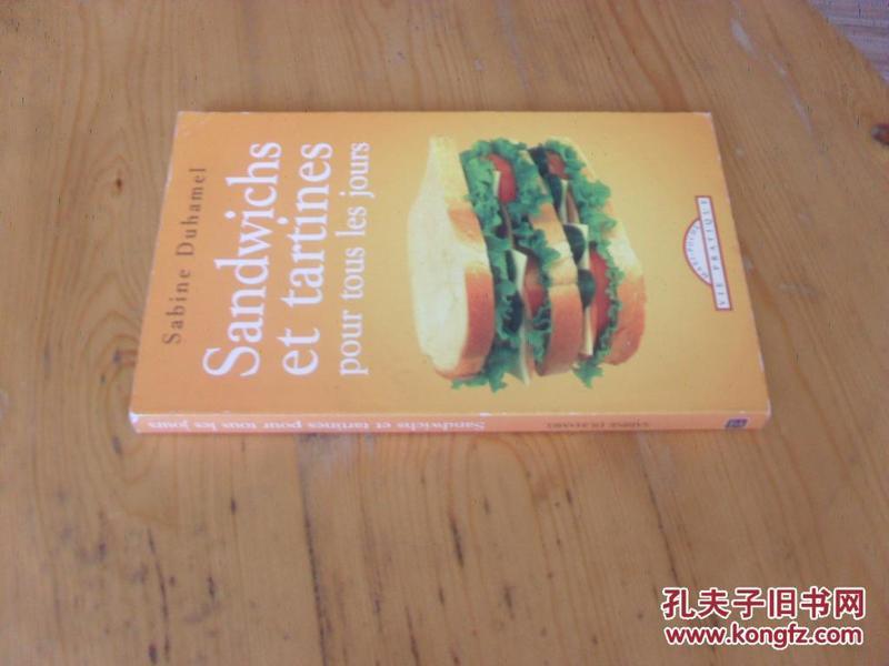 法文原版 三明治的制作 Sandwichs et tartines pour tous les jours.SABINE DUHAMEL