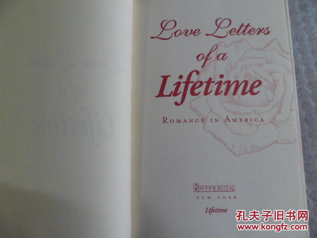 love letters of a lifetime: romance in america