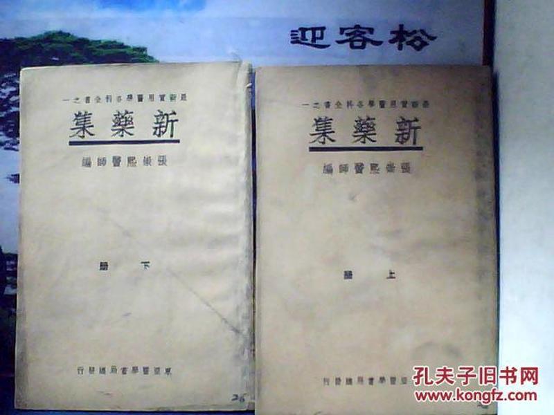 新药集 (上、下册) 东亚医学书局 大32开
