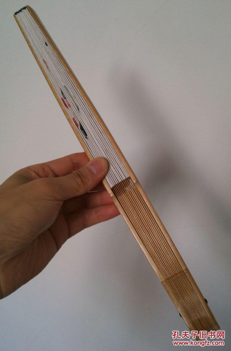 手绘扇面折扇(古书茶壶茶道兰花瓶读书乐文房题材成扇