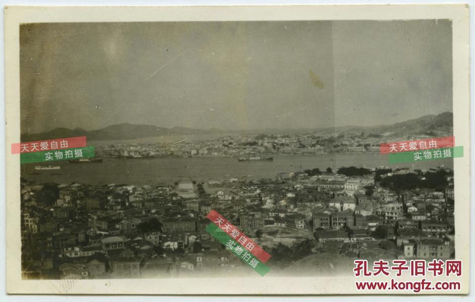 民国福建厦门鼓浪屿全景老照片,地图也不过如此--看城市变迁第一手影像文献老照片