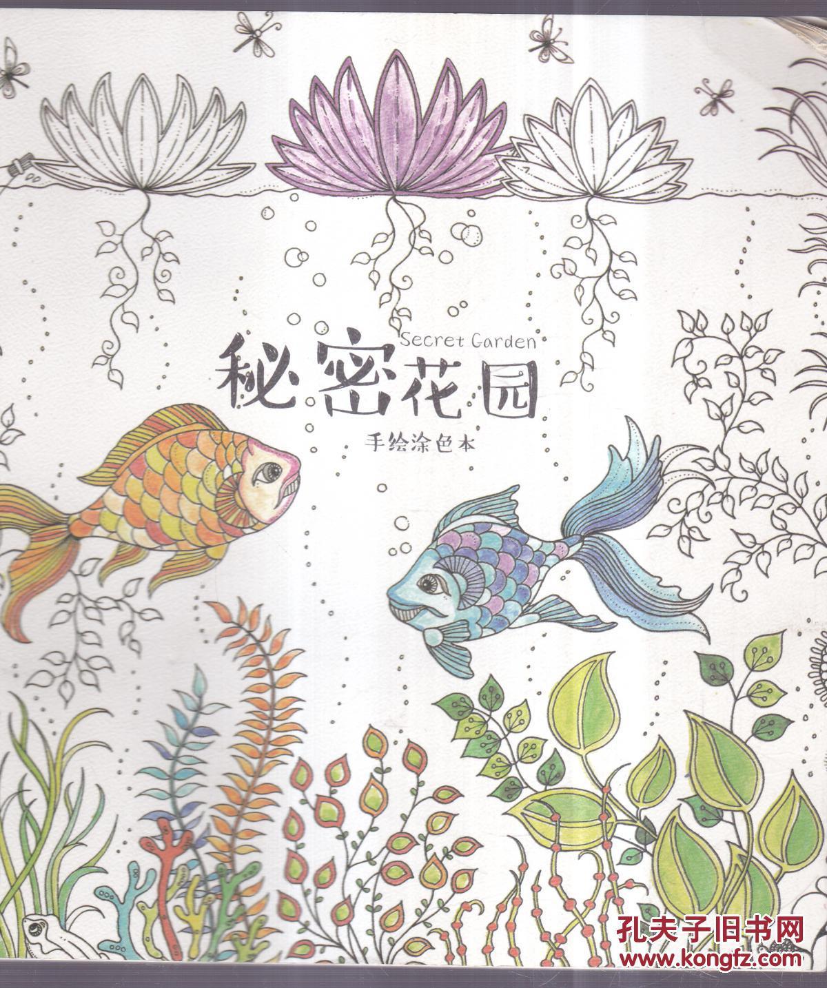 秘密花园第一页效果图_秘密花园 手绘涂色本