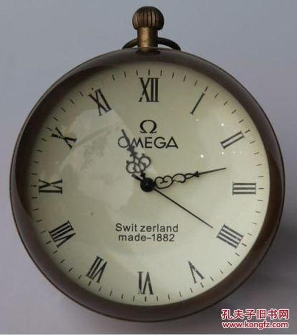 纯铜外壳,精美水晶球机械钟一个