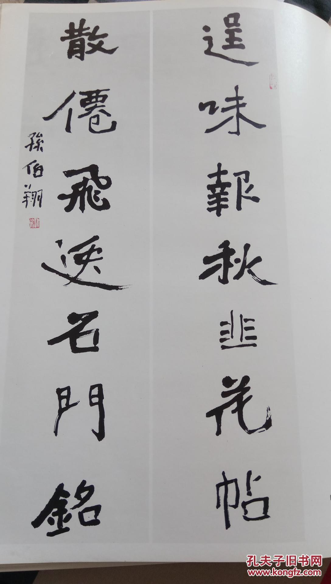 孙伯翔书法集,正版图片