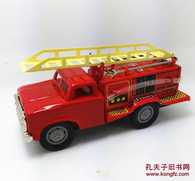 MF163惯性消防车 救火车 发条玩具 摄影道具 铁皮玩具