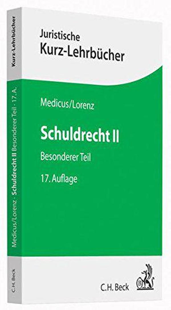德文原版 德国债法各论 Schuldrecht II: Besonderer Teil 法律教材 教科书