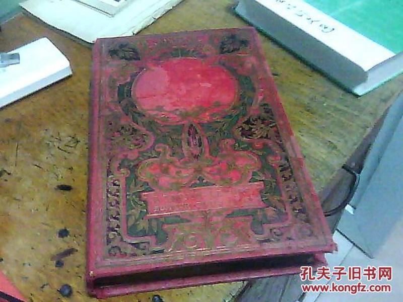 MARIE-NOELE OUVRAGE ORNE DE GRAVURES【1900年左右外文书,16开本红布面】