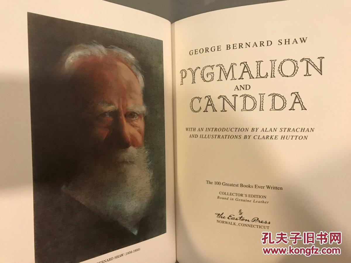 萧伯纳著《皮格马利翁与念珠菌》 版画插图, 伊斯顿出版