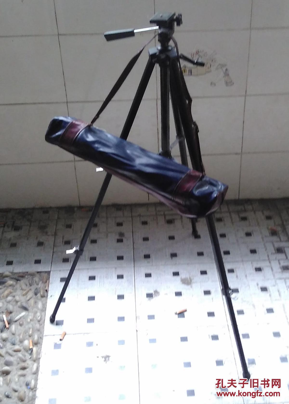 老照相机支架 三脚架三角架 黑色烤漆 铁皮塑料材质