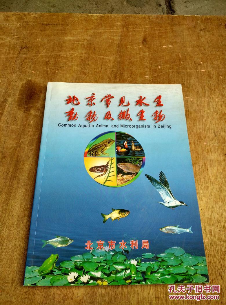 北京常见水生动物及微生物(16开铜版纸彩色印刷)